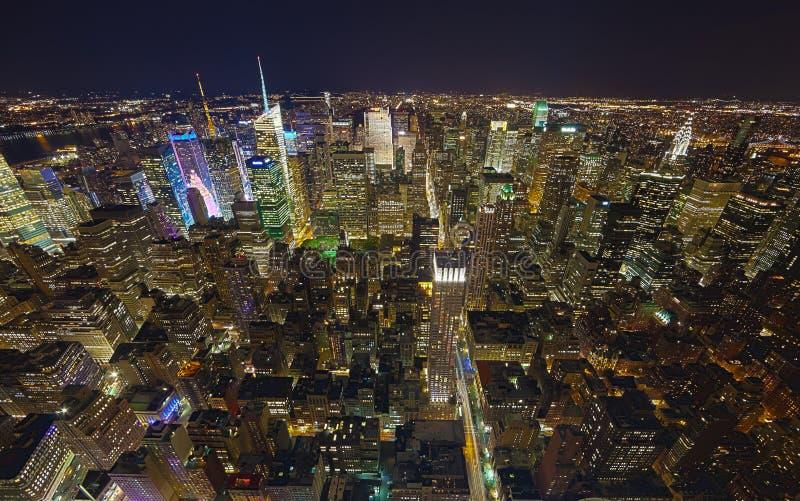 NEW YORK CITY, de la parte alta y Times Square foto de archivo
