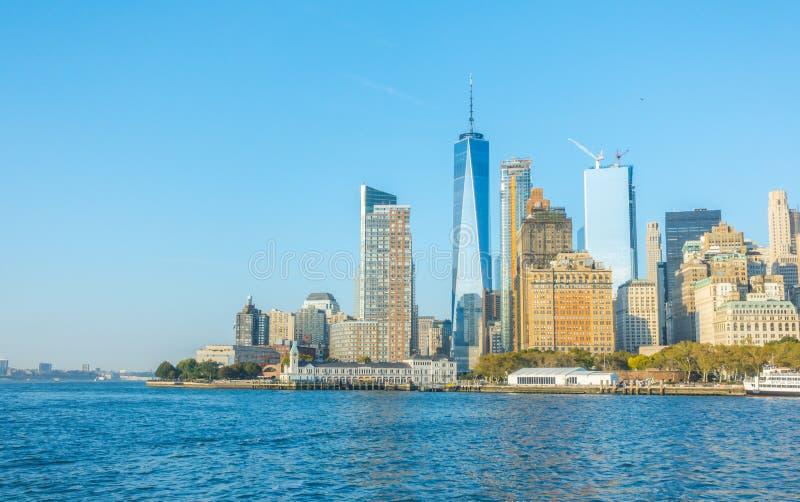 New York City - 18 de outubro de 2016: Skyline de Manhattan, Ci de New York imagem de stock
