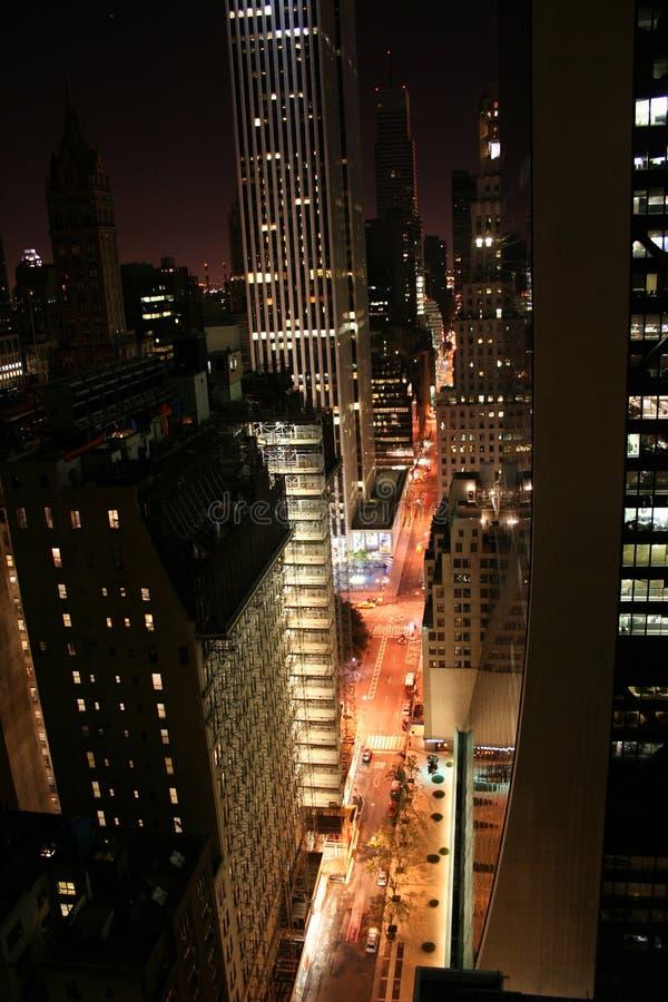 New York City in der Nacht lizenzfreies stockbild