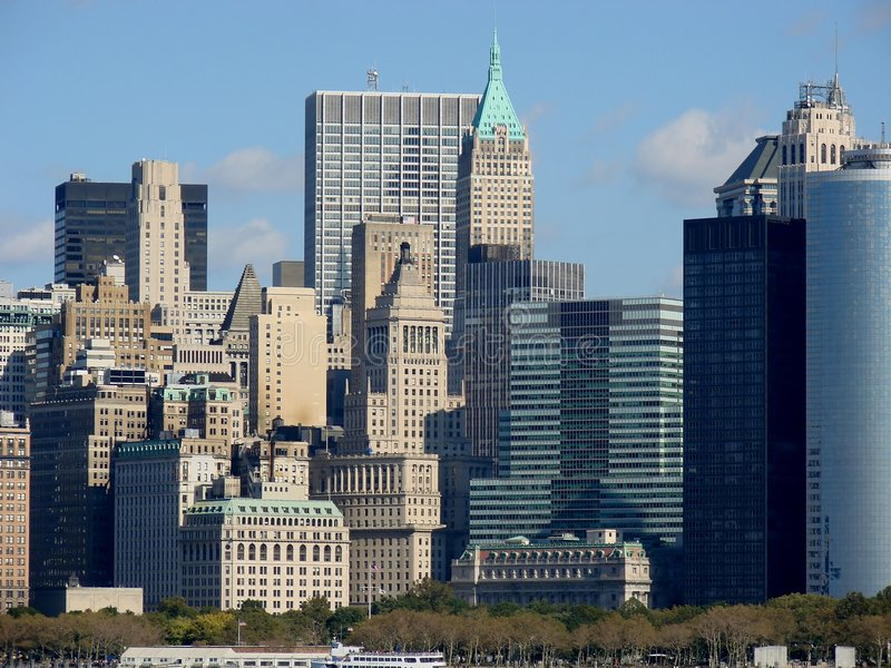 New York City Distri financiero fotografía de archivo libre de regalías
