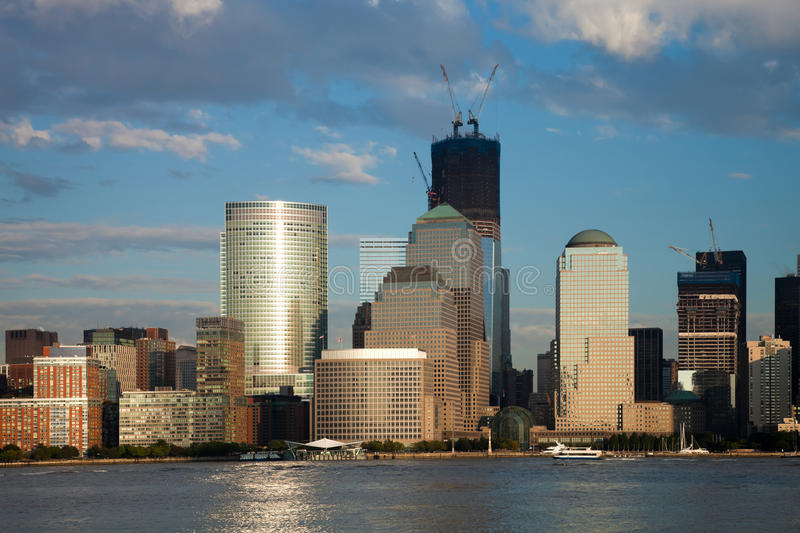 The New York City Downtown W The Freedom Tower Stock Images