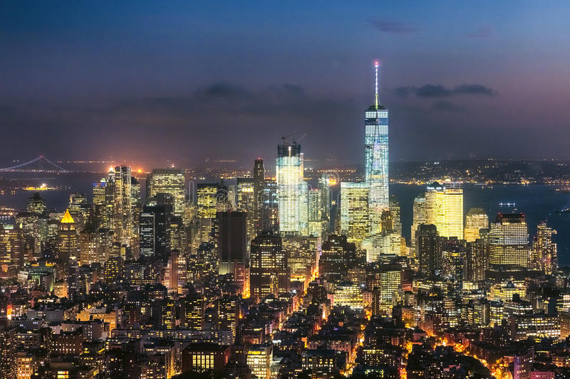 Download The New York City Downtown W The Freedom Tower Editorial Image - Image: 83709645