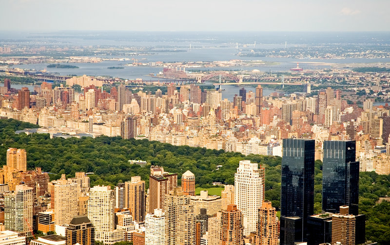 New York City e Central Park imagem de stock
