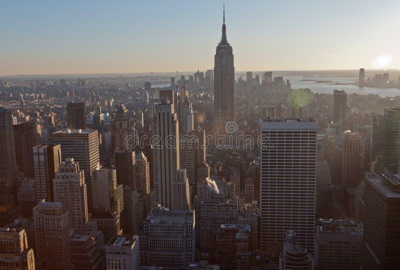 New York City e Empire State Building fotografia stock