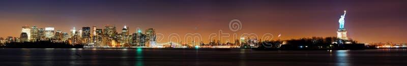 New York City e statua di libertà fotografia stock