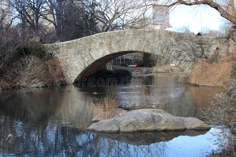 New York City - einsame Brücke lizenzfreie stockfotografie