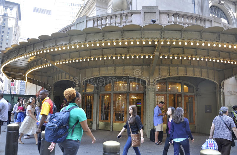 New York City, el 3 de agosto: Entrada de la estación de Grand Central de Manhattan en Nueva York foto de archivo libre de regalías