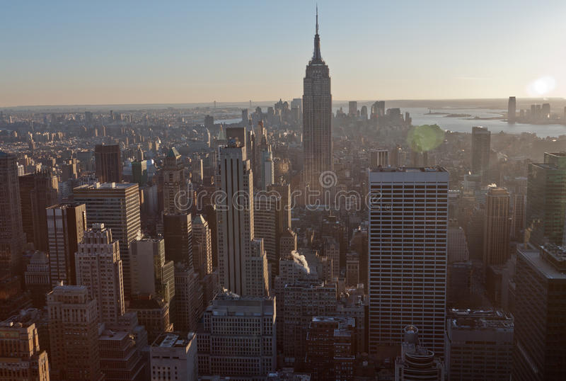 New York City and Empire State Building stock photography
