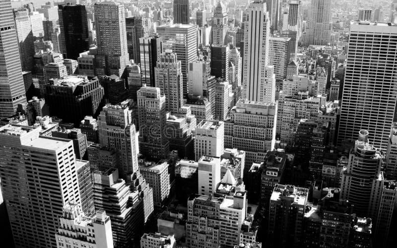 New York City en noir et blanc image libre de droits