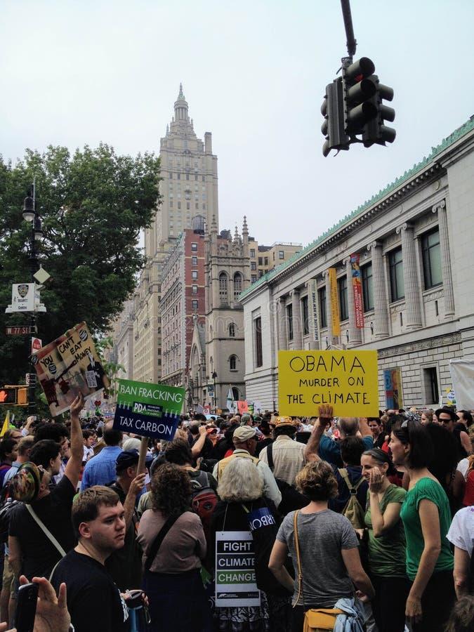 New York City, Estados Unidos - 14 de setembro de 2014: Cha do clima foto de stock