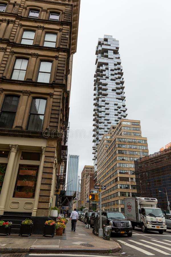 New York City/Etats-Unis - 27 juin 2018 : Gratte-ciel de 56 Leonard Street photo stock