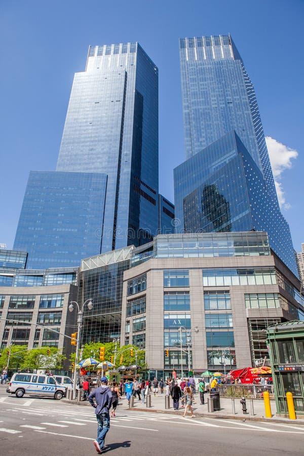 New York City, Etats-Unis 20 mai 2014 Temps Warner Center, 25 Columbu images libres de droits