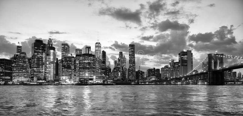 New York City, Finanzbezirk in unterem Manhattan mit Brookl stockbilder