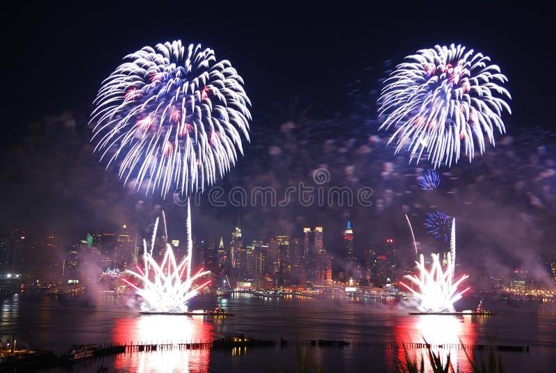 Download New York City fireworks stock image. Image of scraper - 15121641