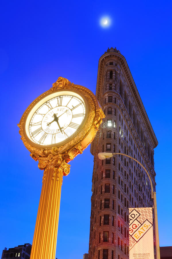 New York City Flatiron byggnad royaltyfria bilder