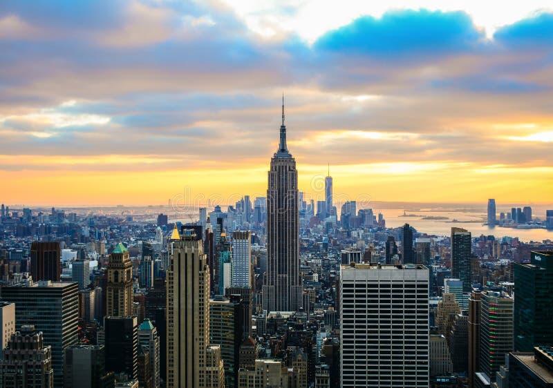 New York City från överkanten av vagga royaltyfria foton