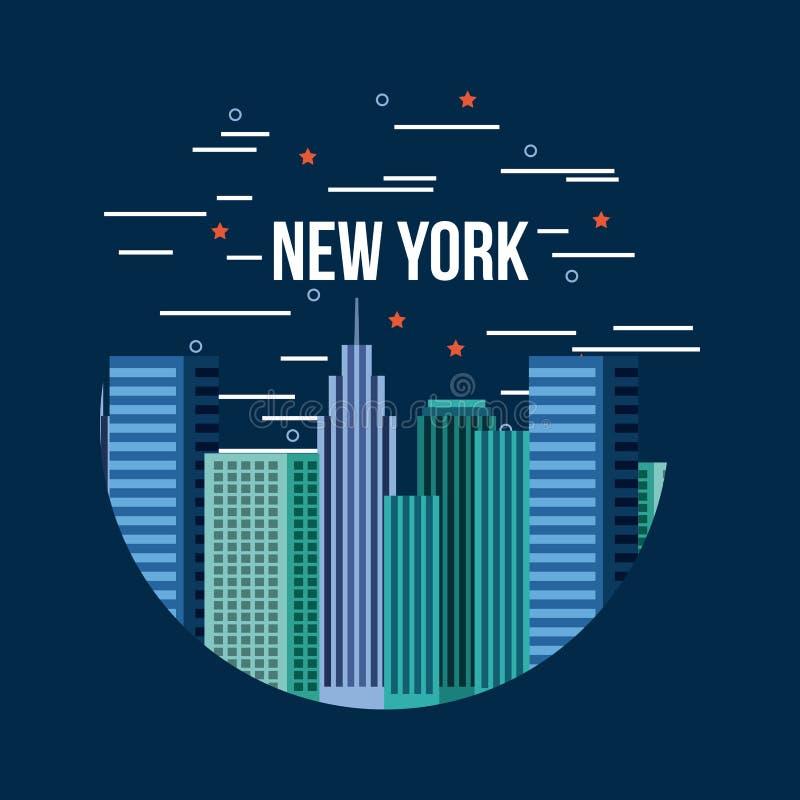 New York City gällde bild vektor illustrationer