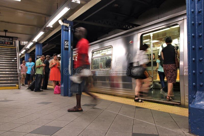 New York City gångtunnel royaltyfri fotografi
