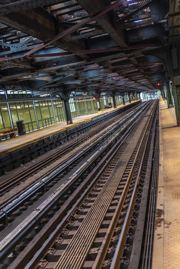 New York City gångtunnel i den Coney Island stranden, New York City, USA royaltyfri fotografi