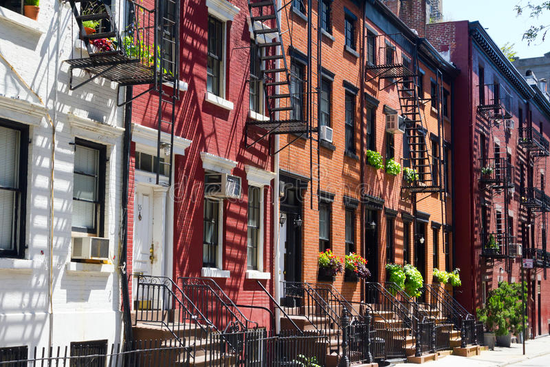 New York City - glad gata i Manhattan arkivfoto