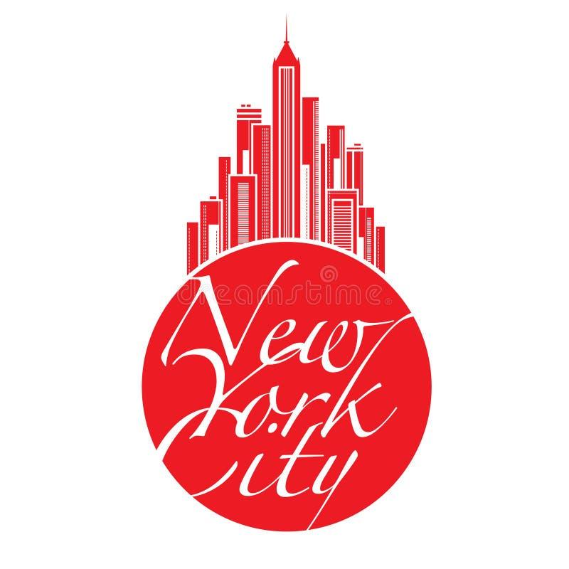 New York City großer Apple lizenzfreie abbildung