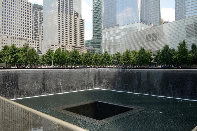 New York City: Ground Zero 9/11 Memorial park h royalty free stock photo