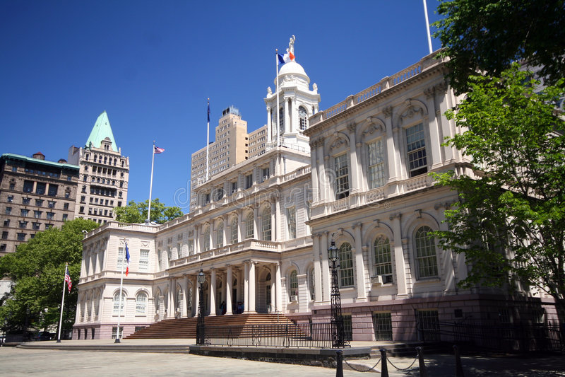 New york city hall stock image