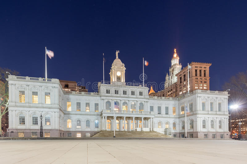 New York City Hall royalty free stock photography