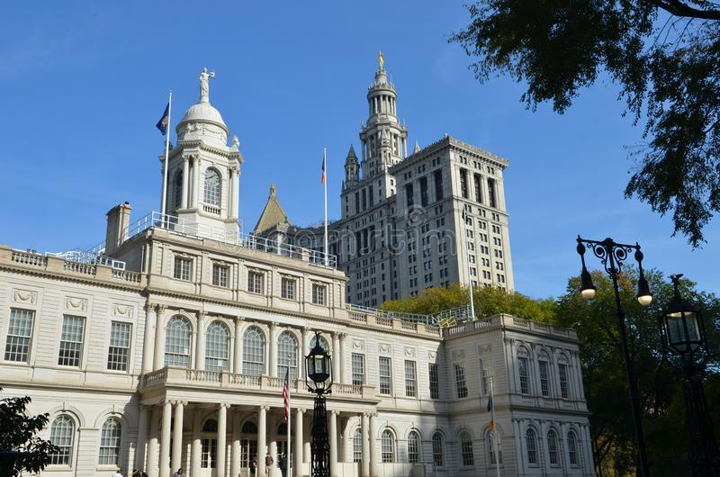 New York City Hall, NYC, Etats-Unis photographie stock libre de droits