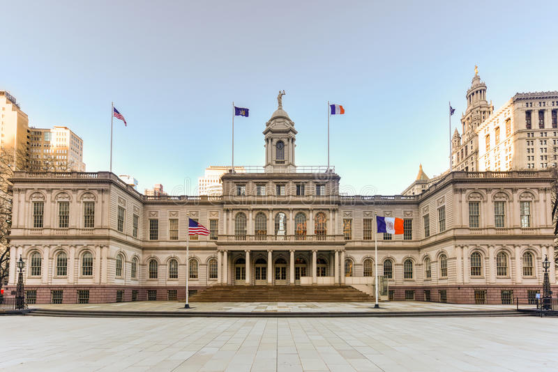 New York City Hall royalty free stock images