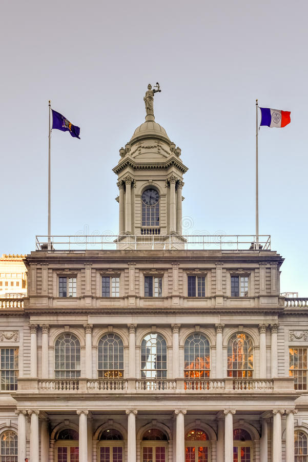 New York City Hall stock image