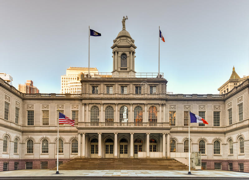 New York City Hall royalty free stock image