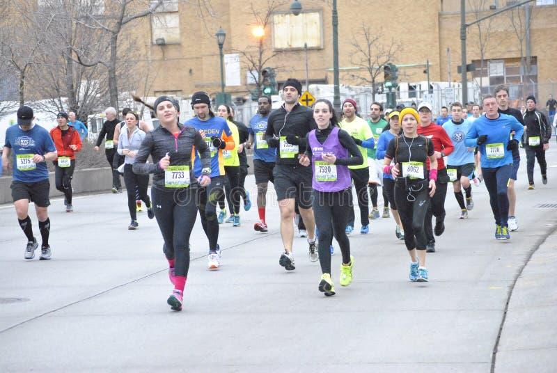 New York City halv maraton 2015 royaltyfri foto