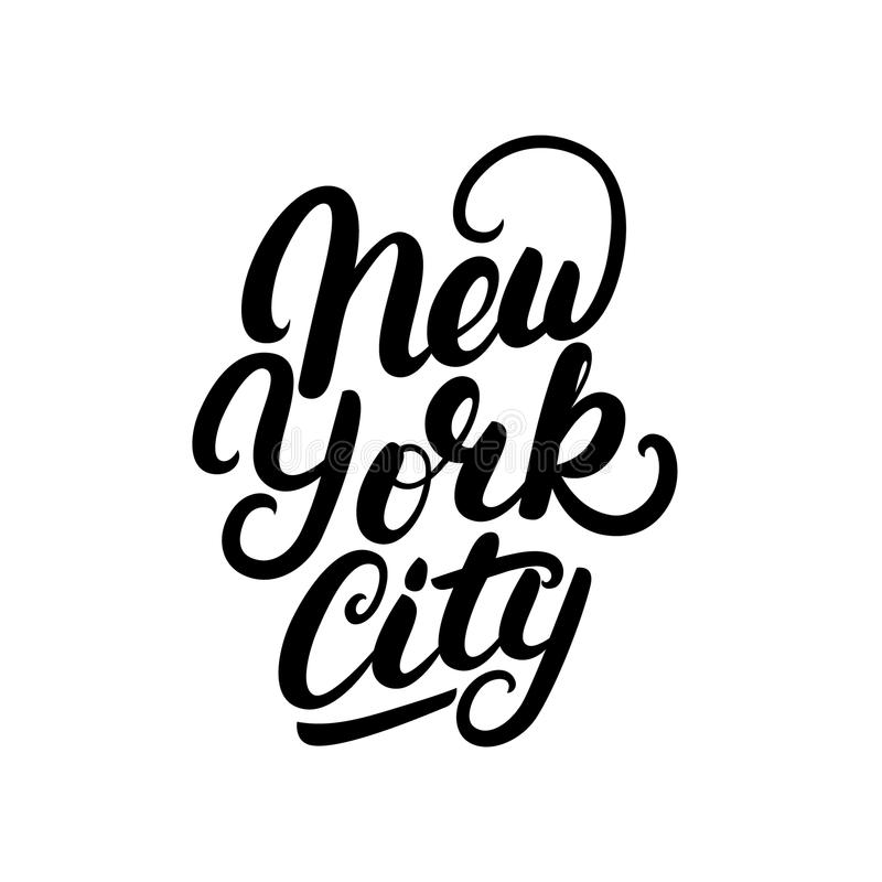 New York City Hand Written Lettering Stock Vector Image