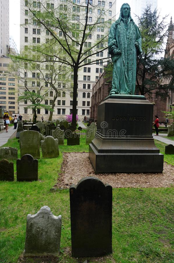 Historic St. Pauls Chapel graveyard. New York City : Historic St. Paul s Chapel graveyard. Old tomb in Financial District in Lower Manhattan stock photo