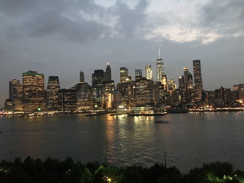 New York City horisont royaltyfri foto