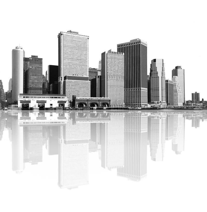 New York City horisont vektor illustrationer