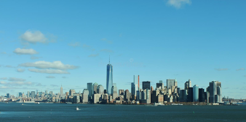 New York City horisont/Cityscape royaltyfri fotografi