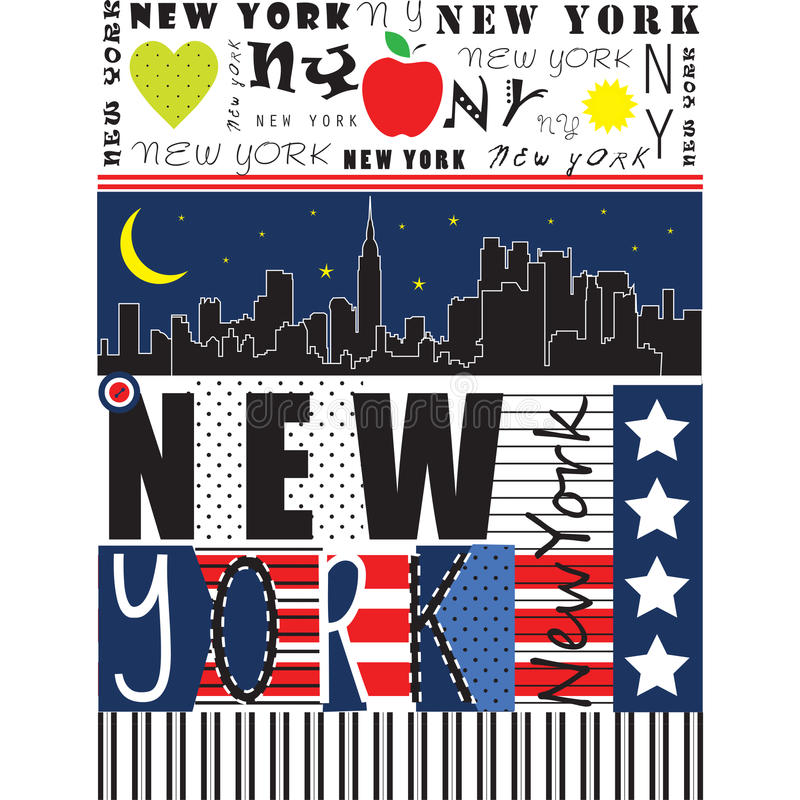 New York City illustration royalty free illustration