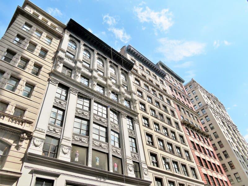 New York City - 19 juin 2017 - bâtiments historiques à ville de New-York photos stock