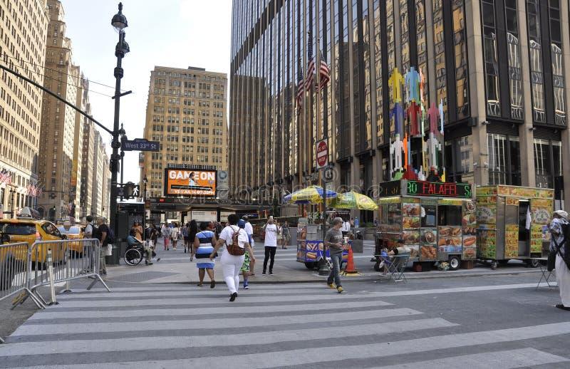 New York City, am 2. Juli: Madison Square Garden von Manhattan von New York City in Vereinigten Staaten stockbild