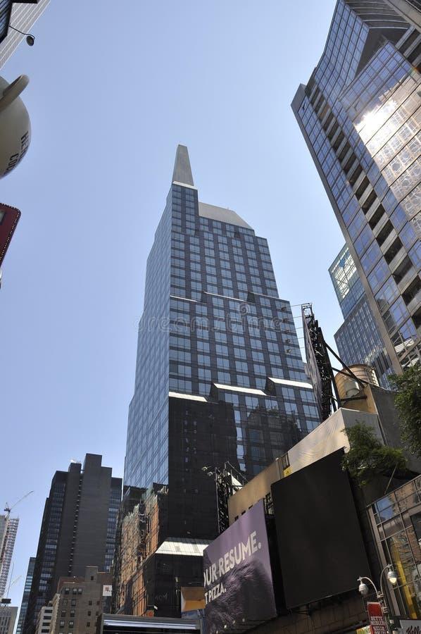 New York City, am 2. Juli: Times Square auf Tageszeit in Midtown Manhattan von New York City in Vereinigten Staaten stockfoto