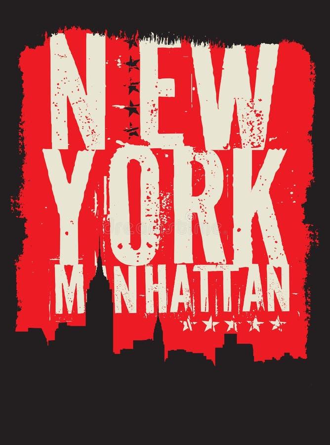 New York City kontur royaltyfri illustrationer
