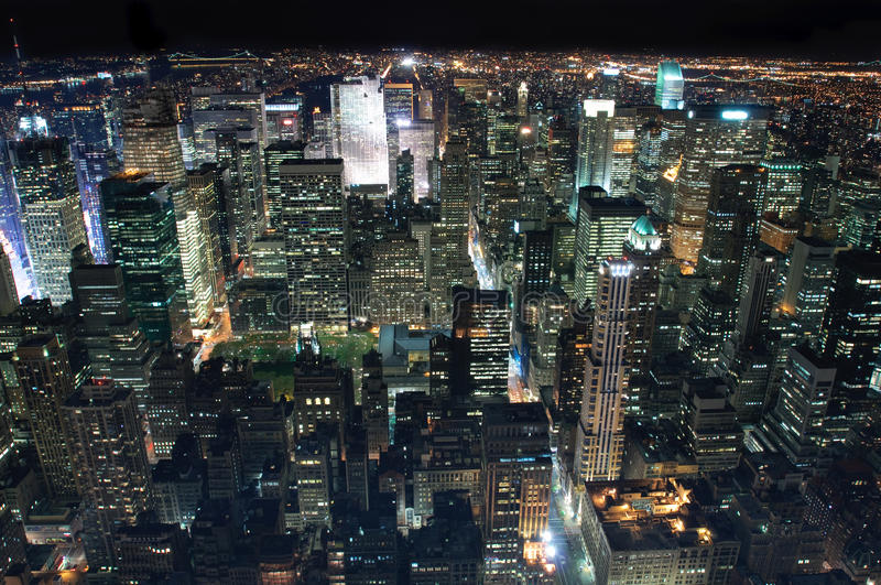 New York City la nuit photo libre de droits