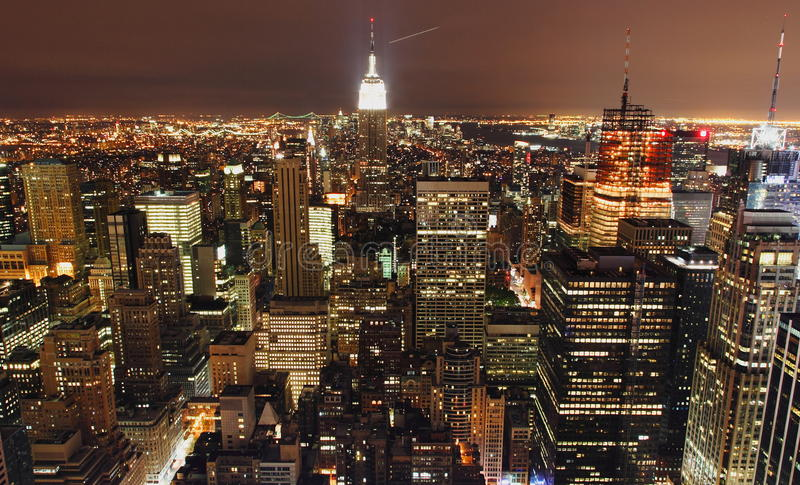 New York City la nuit photos libres de droits