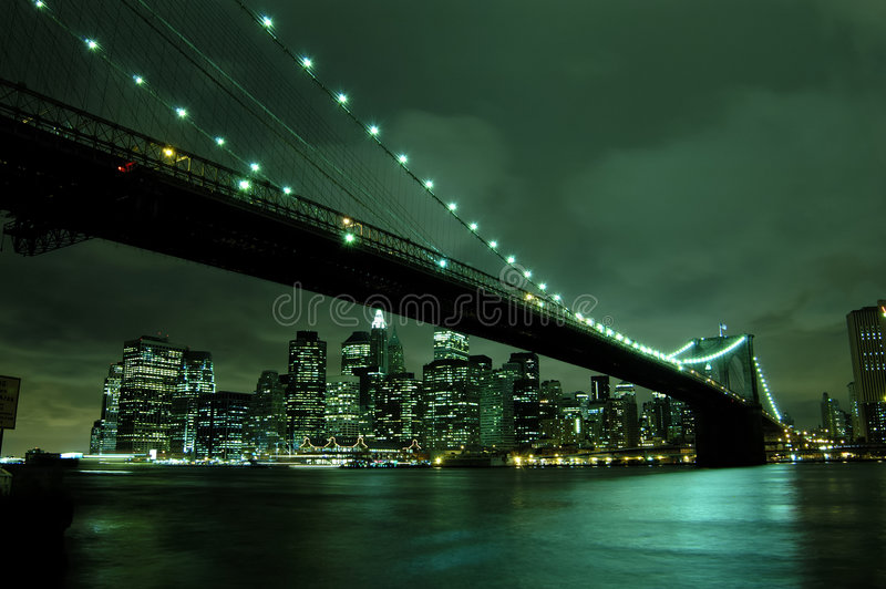 New York City la nuit photographie stock