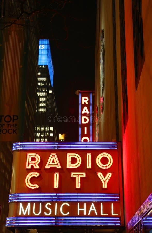 Free New York City Landmark Radio City Music Hall In Rockefeller Center Royalty Free Stock Images - 36191499