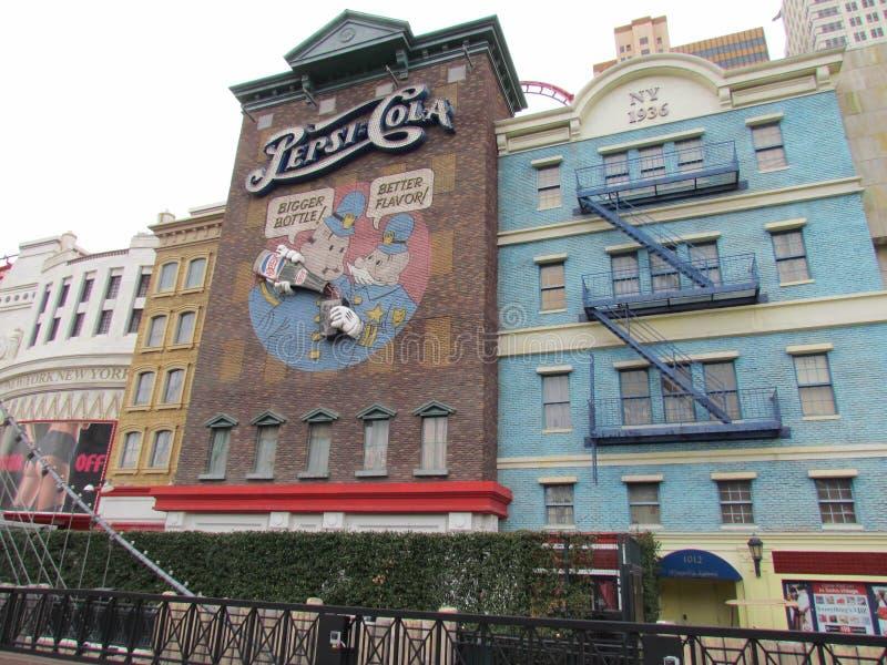 New York City,Las Vegas. Replicas of buildings and landmarks are found along the Strip in New York City, Las Vegas stock image