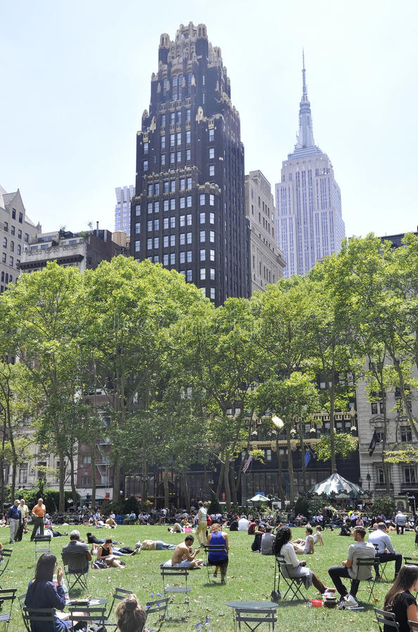 New York City, le 3 août : Bryant Park de Manhattan à New York photographie stock