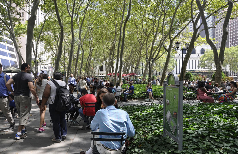 New York City, le 3 août : Bryant Park de Manhattan à New York photos libres de droits
